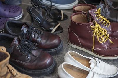 靴箱の中も衣替え